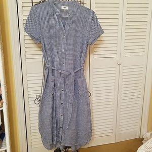 Dress, GAP Shirt waist, Navy Blue Gingham, Me